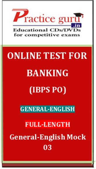 Practice Guru Banking (IBPS PO) General - English Full-length General - English Mock 03 Online Test(Voucher)