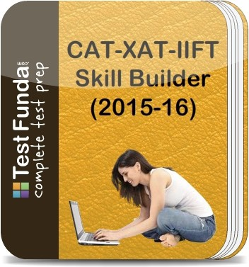 Test Funda CAT - XAT - IIFT Skill Builder (2015 - 16) Online Test(Voucher)