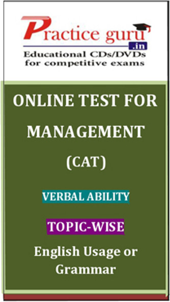 Practice Guru Management (CAT) Verbal Ability Topic-wise - English Usage or Grammar Online Test(Voucher)