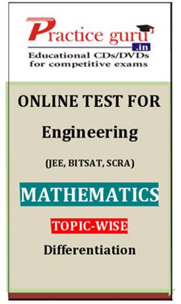 Practice Guru Engineering (JEE, BITSAT, SCRA) Mathematics Topic-wise - Differentiation Online Test(Voucher)