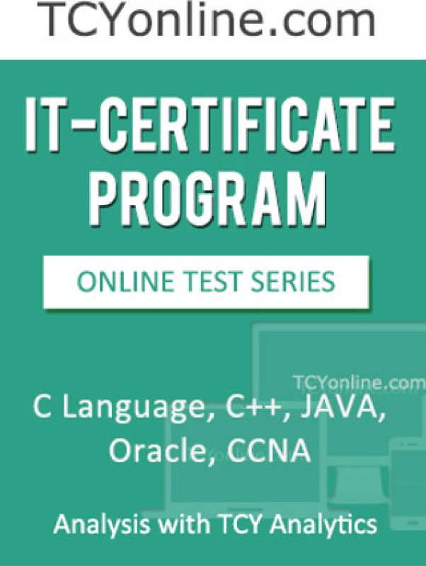 TCYonline IT - Certificate Program - C Language / C ++ / Java / Oracle / CCNA Analysis with TCY Analytics (2 Months Pack) Online Test(Voucher)