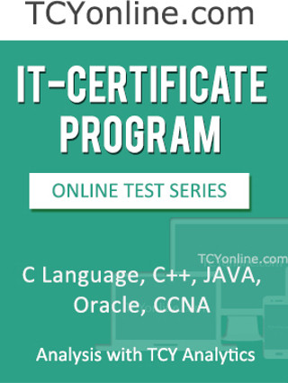 TCYonline IT - Certificate Program - C Language / C ++ / Java / Oracle / CCNA Analysis with TCY Analytics (8 Months Pack) Online Test(Voucher)