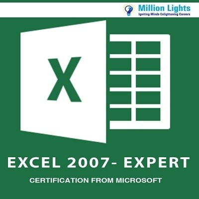 Millionlights Excel 2007 - Expert Certification from Microsoft Certification Course(Voucher)
