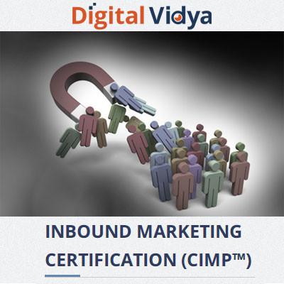 Digital Vidya Inbound Marketing Certification (CIMP) Certification Course(Voucher)