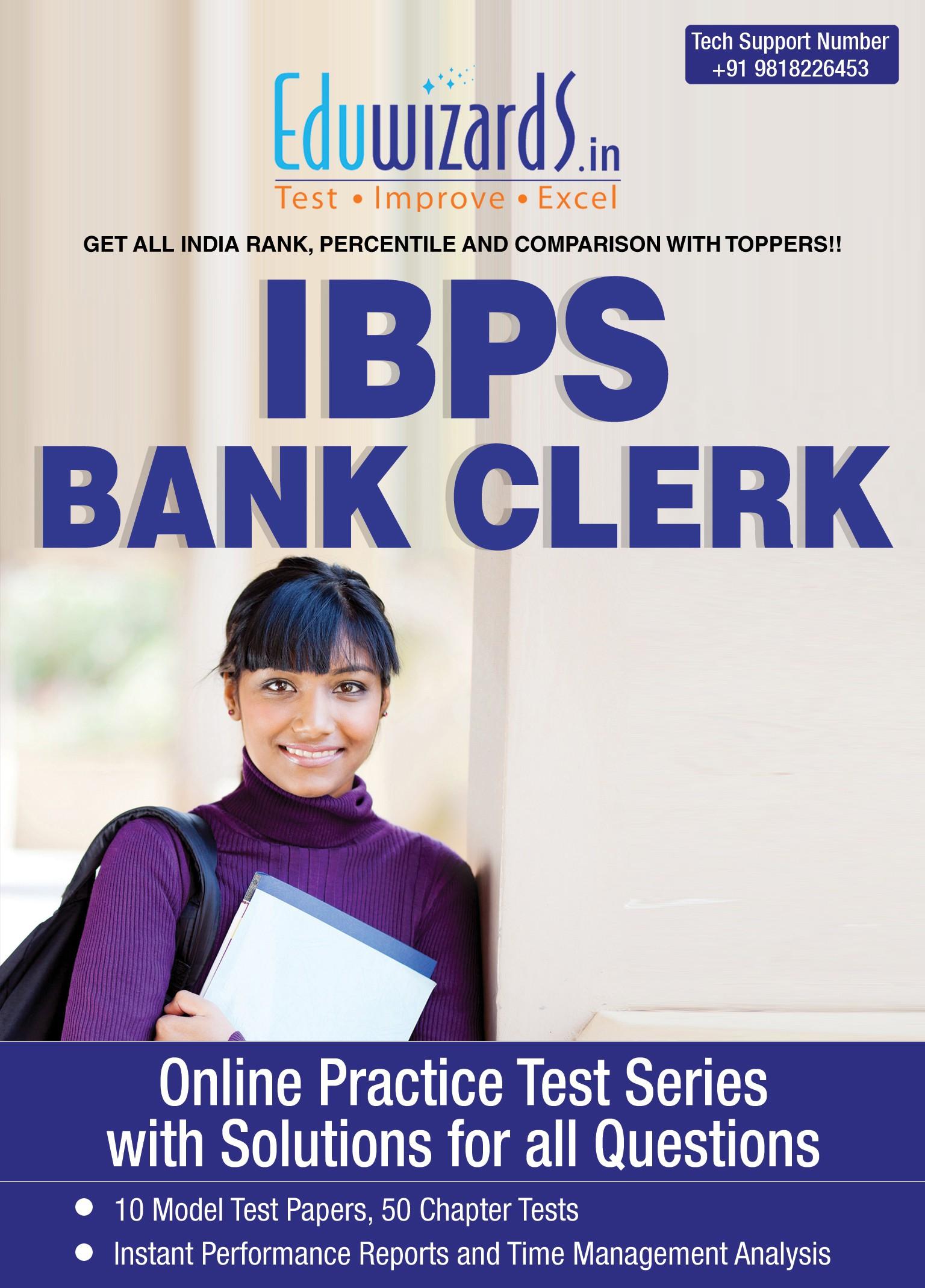 Eduwizards IBPS Bank Clerk Online Test Series Online Test(Voucher)