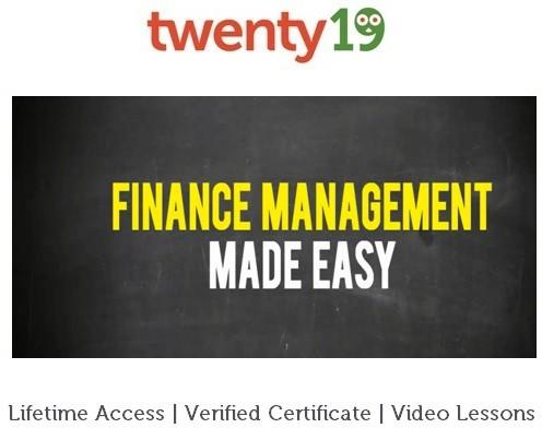 Twenty19 Finance Management Made Easy Certification Course(Voucher)