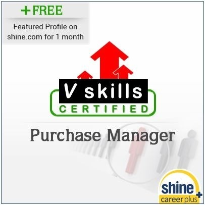 Careerplus V Skills Certified Purchase Manager Certification Course(Voucher)