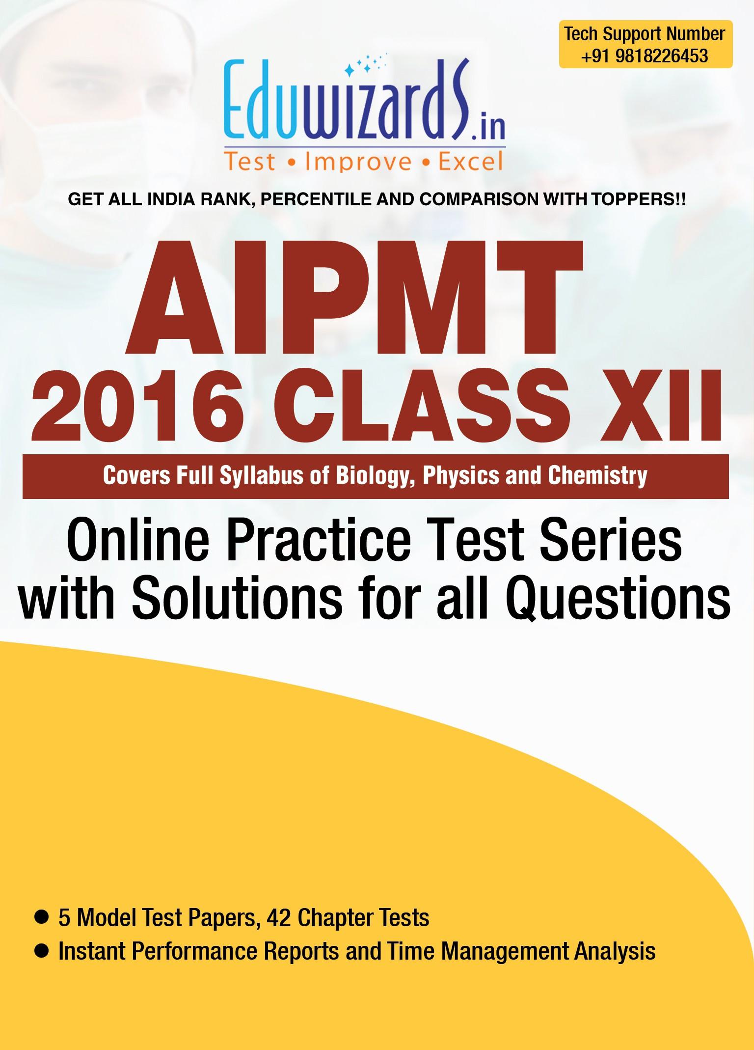 Eduwizards AIPMT 2016 Class XII Online Test Series Online Test(Voucher)