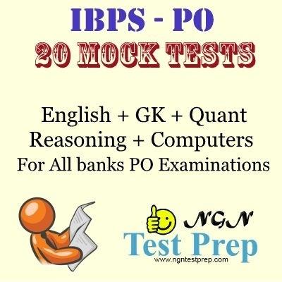 NGN Test Prep IBPS - PO : 20 Mock Tests for All Banks PO Examinations Online Test(Voucher)