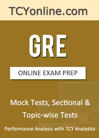 TCYonline GRE - Online Exam Prep Mock Tests, Sectional & Topic-wise Tests Performance Analysis with TCY Analytics (2 Months) Online Test(Voucher)