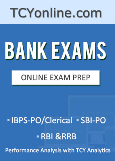 TCYonline Bank Exams - IBPS - PO / Clerical / SBI - PO / RBI & RRB Performance Analysis with TCY Analytics (8 Months Pack) Online Test(Voucher)