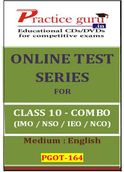 Practice Guru Series for Class 10 - Combo Pack - IMO / NSO / IEO / NCO Online Test(Voucher)