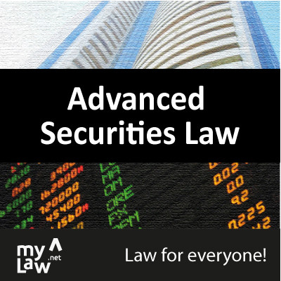 Rainmaker Advanced Securities Law - Law for Everyone! Certification Course(Voucher)