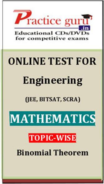 Practice Guru Engineering (JEE, BITSAT, SCRA) Mathematics Topic-wise - Binomial Theorem Online Test(Voucher)