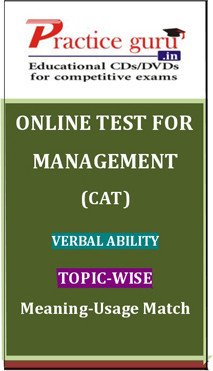 Practice Guru Management (CAT) Verbal Ability Topic-wise - Meaning-Usage Match Online Test(Voucher)