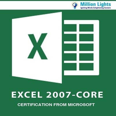 Millionlights Excel 2007 - Core Certification from Microsoft Certification Course(Voucher)