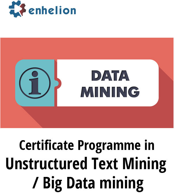 Enhelion Certificate Programme in Unstructured Text Mining / Big Data Mining Certification Course(Voucher)