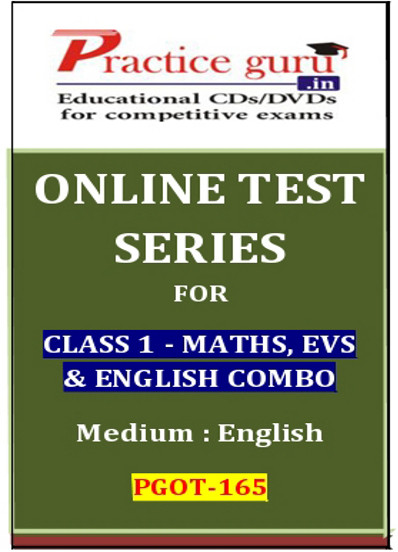Practice Guru Series for Class 1 - Maths, EVS & English Combo Online Test(Voucher)