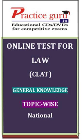 Practice Guru Law (CLAT) General Knowledge Topic-wise National Online Test(Voucher)