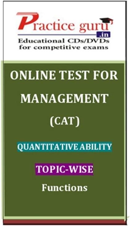 Practice Guru Management (CAT) Quantitative Ability Topic-wise - Functions Online Test(Voucher)