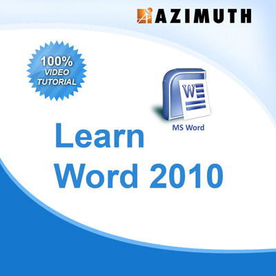 Azimuth Learn MS Word 2010 Online Course(Voucher)