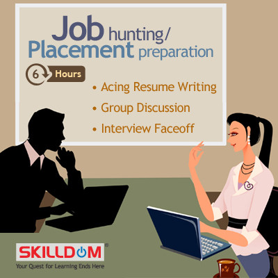 SKILLDOM Job Hunting / Placement Preparation : Acing Resume Writing, Group Discussion, Interview Faceoff Certification Course(User ID-Password)