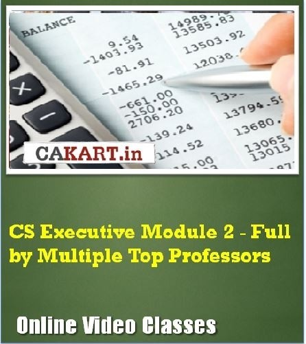 CAKART CS Executive Module 2 - Full by Multiple Top Professors Online Course(Voucher)