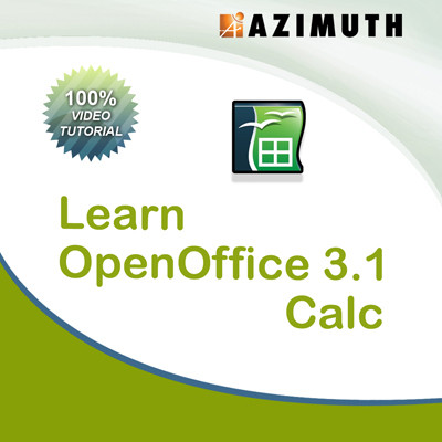 Azimuth Learn OpenOffice 3.1 Calc Online Course(Voucher)