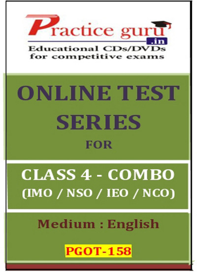 Practice Guru Series for Class 4 - Combo Pack - IMO / NSO / IEO / NCO Online Test(Voucher)