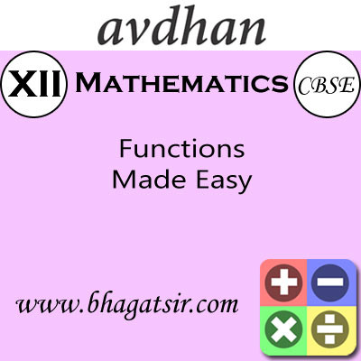 Avdhan CBSE - Mathematics Functions Made Easy (Class 12) School Course Material(Voucher)