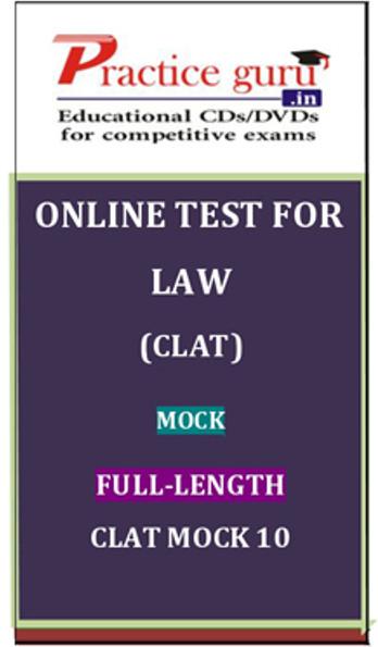 Practice Guru Law (CLAT) Mock Full-length CLAT Mock 10 Online Test(Voucher)