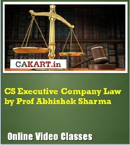 CAKART CS Executive Company Law by Prof. Abhishek Sharma Online Course(Voucher)