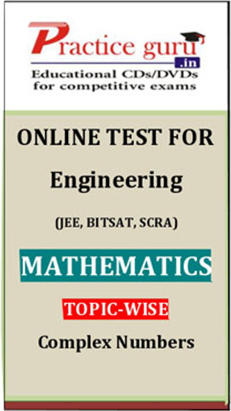 Practice Guru Engineering (JEE, BITSAT, SCRA) Mathematics Topic-wise - Complex Numbers Online Test(Voucher)