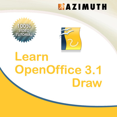 Azimuth Learn OpenOffice 3.1 Draw Online Course(Voucher)