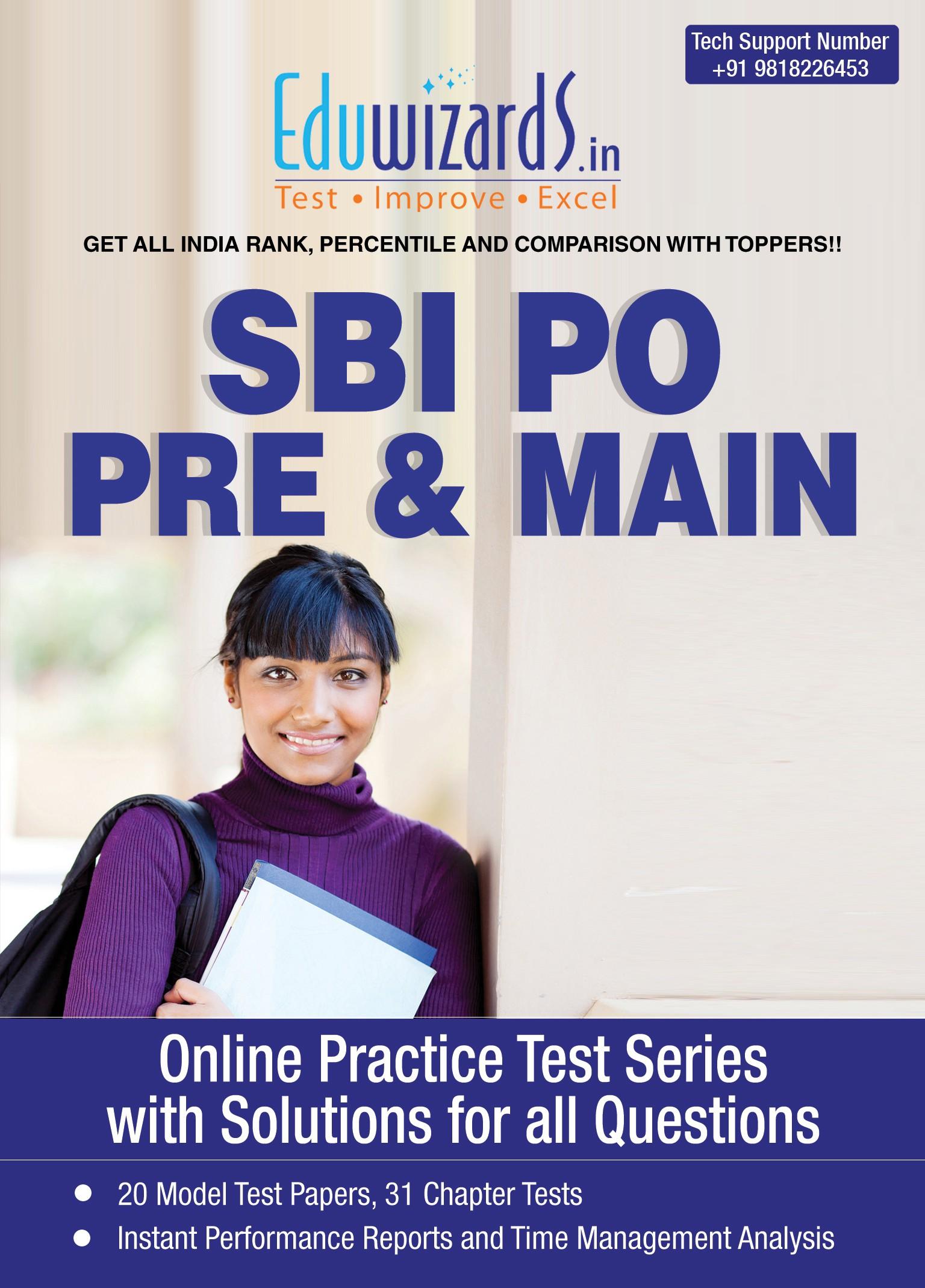 Eduwizards SBI PO Pre & Main Online Test Series Online Test(Voucher)