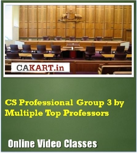 CAKART CS Professional Group 3 by Multiple Top Professors Online Course(Voucher)