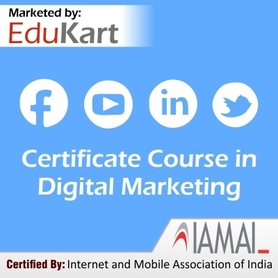 EduKart Certificate Course in Digital Marketing - Certified by IAMAI(Voucher)