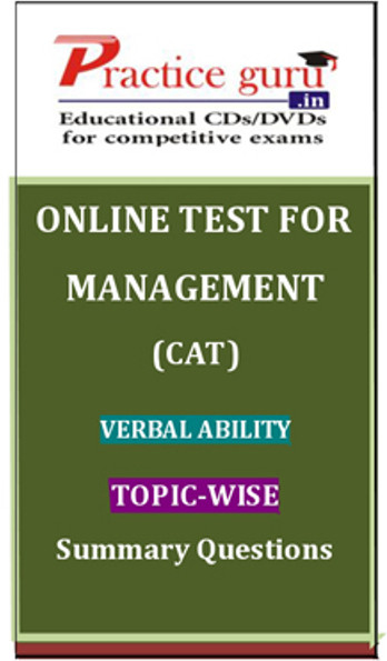 Practice Guru Management (CAT) Verbal Ability Topic-wise - Summary Questions Online Test(Voucher)