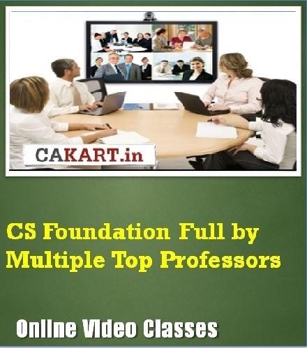 CAKART CS Foundation Full by Multiple Top Professors Online Course(Voucher)