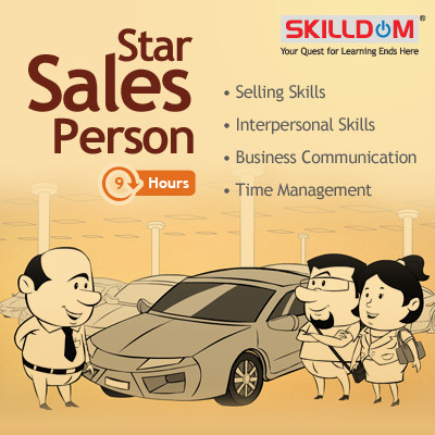 SKILLDOM Star Sales Person : Selling Skills, Interpersonal Skills, Business Communication, Time Management Certification Course(User ID-Password)