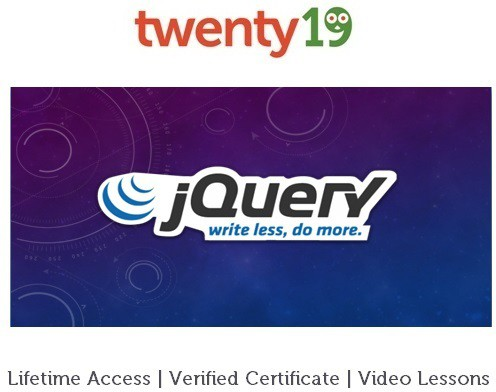 Twenty19 Introduction to jQuery Certification Course(Voucher)