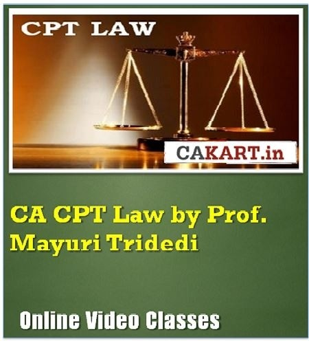 CAKART CA CPT Law by Prof. Mayuri Tridedi Online Course(Voucher)