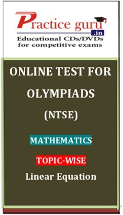 Practice Guru Olympiads (NTSE) Mathematics Topic-wise Linear Equation Online Test(Voucher)