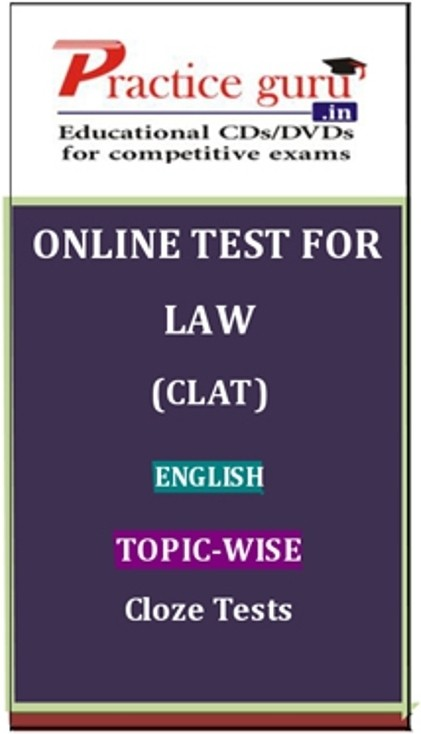 Practice Guru Law (CLAT) English Topic-wise Cloze Tests Online Test(Voucher)