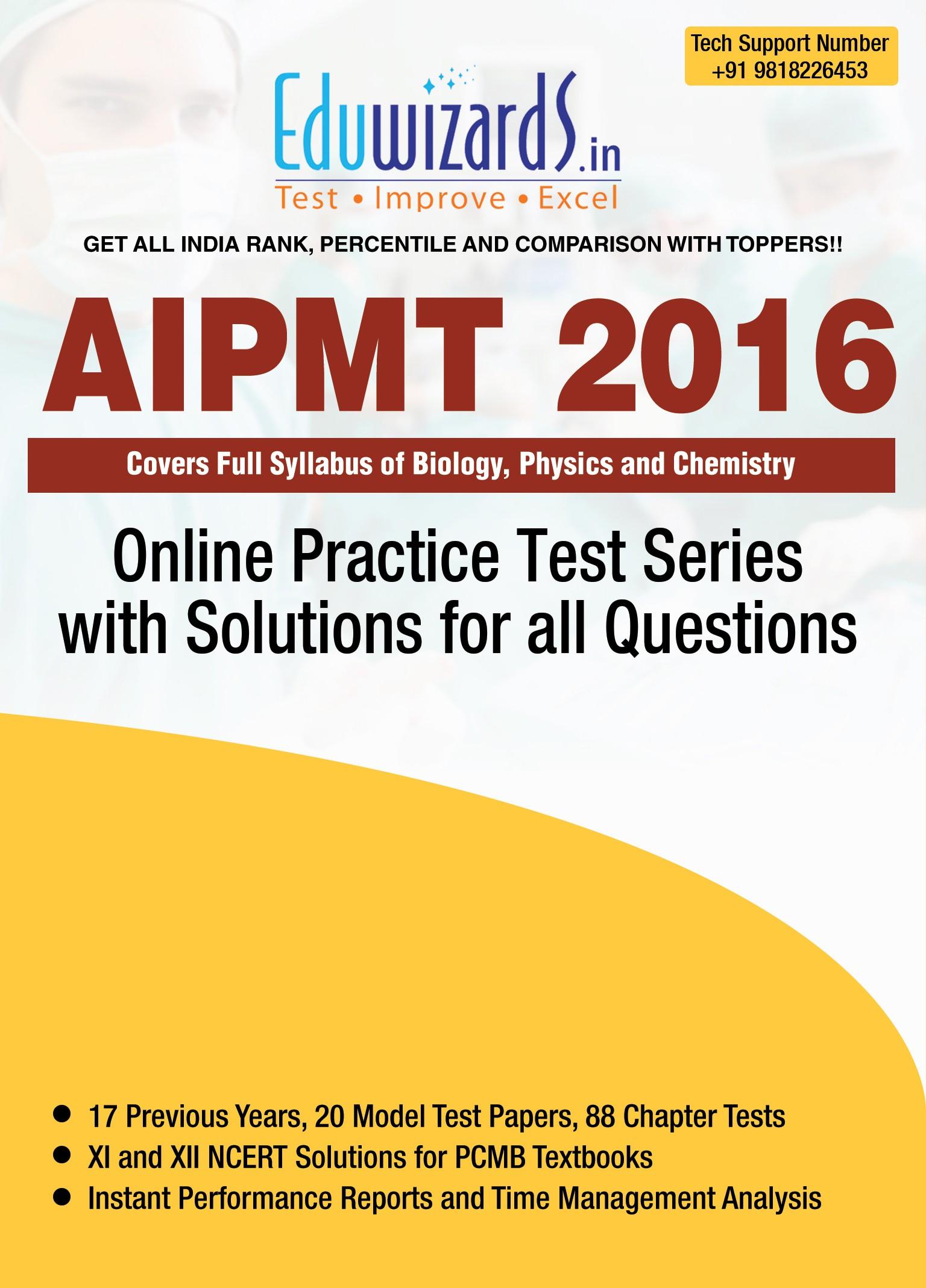 Eduwizards AIPMT 2016 Online Test Series Online Test(Voucher)