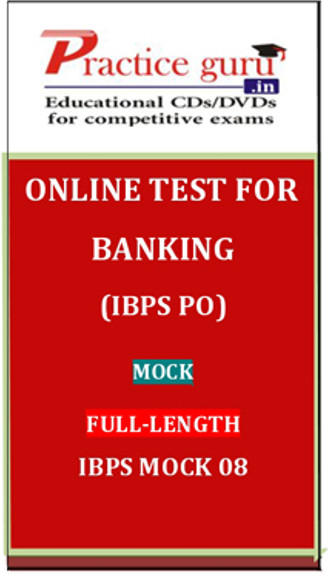 Practice Guru Banking (IBPS PO) Mock Full-length IBPS Mock 08 Online Test(Voucher)