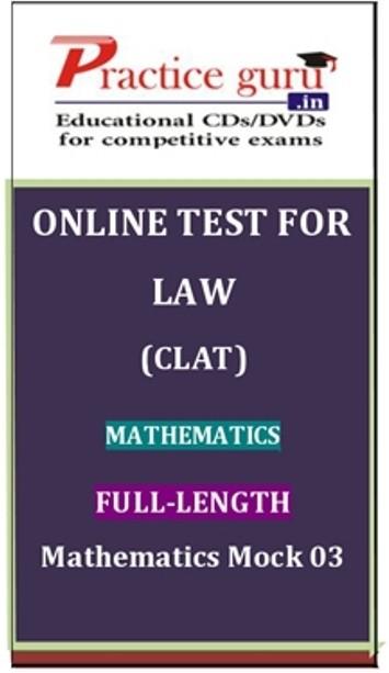 Practice Guru Law (CLAT) Mathematics Full - Length Mathematics Mock 03 Online Test(Voucher)