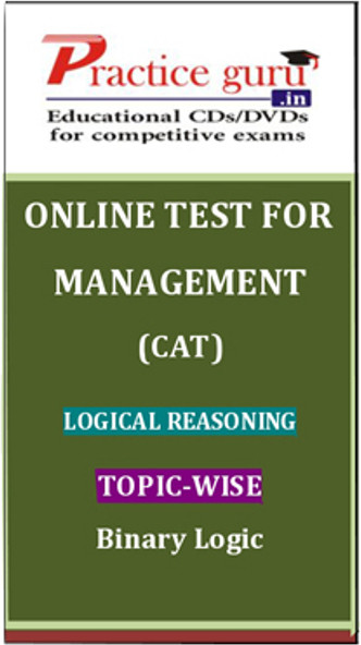 Practice Guru Management (CAT) Logical Reasoning Topic-wise - Binary Logic Online Test(Voucher)