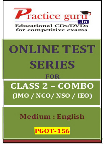Practice Guru Series for Class 2 - Combo Pack - IMO / NSO / IEO / NCO Online Test(Voucher)
