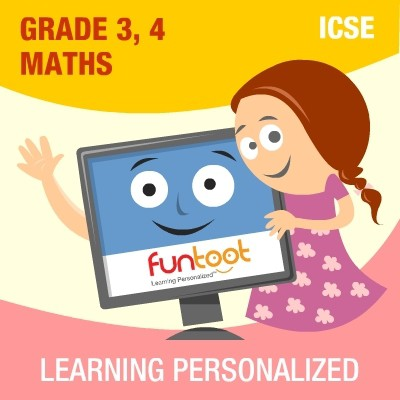 Funtoot ICSE - Grade 3 & 4 Maths School Course Material(User ID-Password)